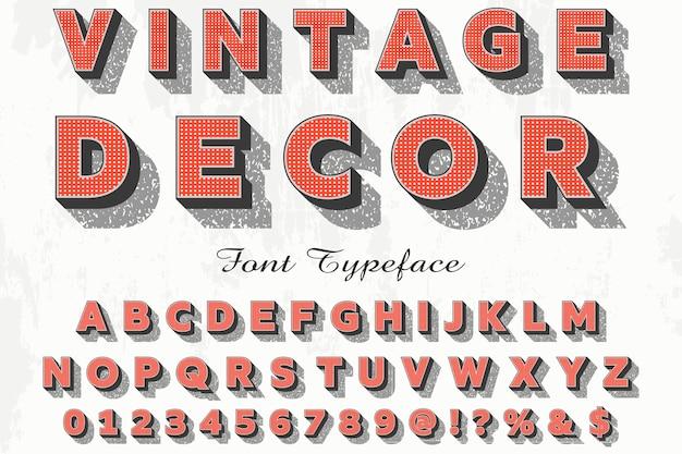 Alphabet Police Script Typeface Fait à La Main Décor Vintage Manuscrit Vecteur Premium