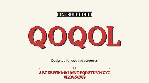 Alphabet des polices de caractères qoqol