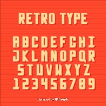 Alphabet de polices dans un style rétro