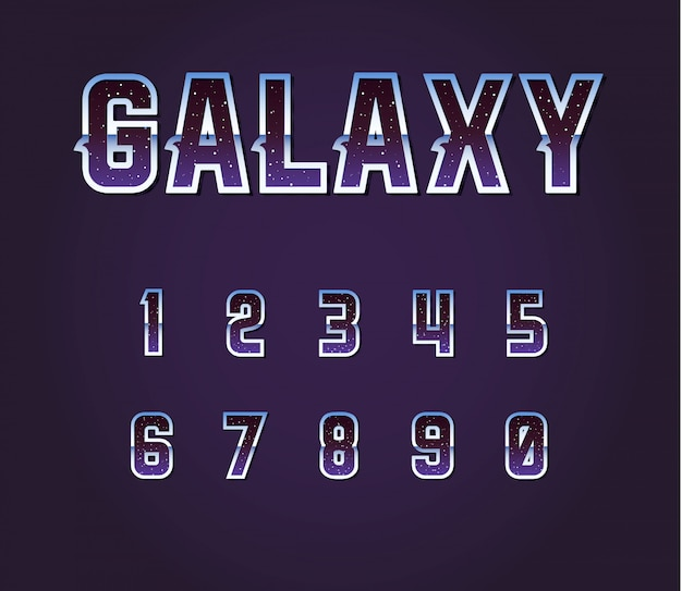 Alphabet de polices de science-fiction rétro univers