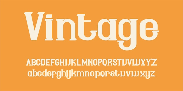 Alphabet de polices vintage