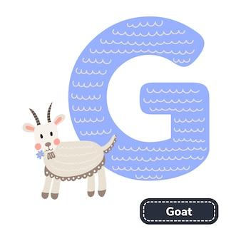 Alphabet pour enfants. lettre d. chèvre de pépinière mignon.