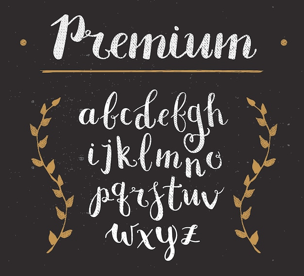 Alphabet premium dessiné à la main