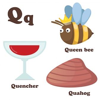 Alphabet q lettre