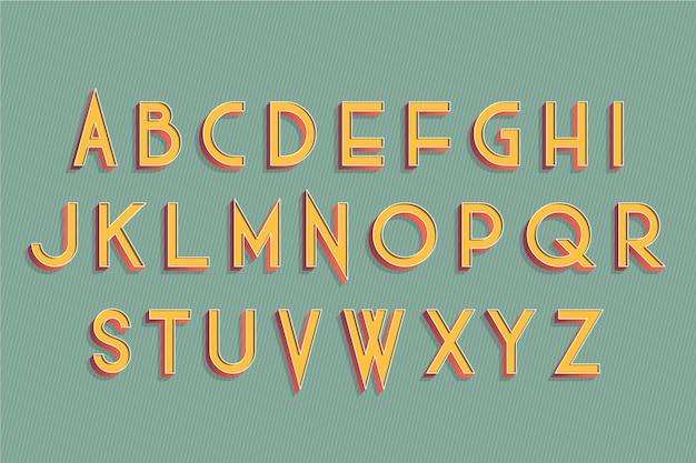 Alphabet rétro 3d