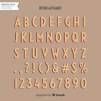 Alphabet rétro