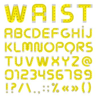 Alphabet ruban à mesurer