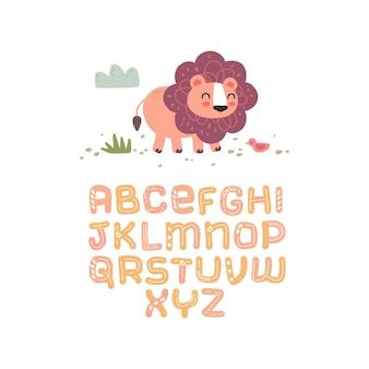 Alphabet scandinave ensemble mignon fantaisie et clipart collection colorée isolé el