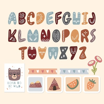 Alphabet scandinave et jolie collection