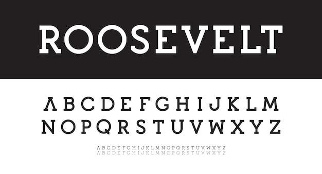 Alphabet serif moderne gras régulier mince vecteur composé nouveau modèle de police classique géométrique simple