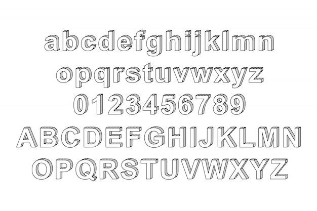 Alphabet de style à la main