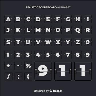 Alphabet tableau de bord