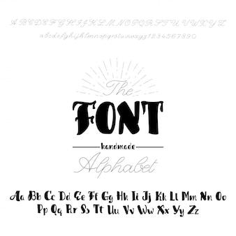 Alphabet de vecteur