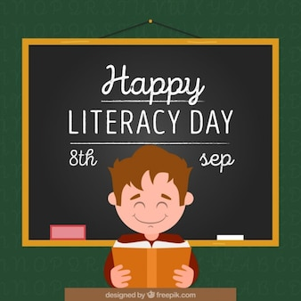 Alphabétisation jour fond d'enfant à l'école