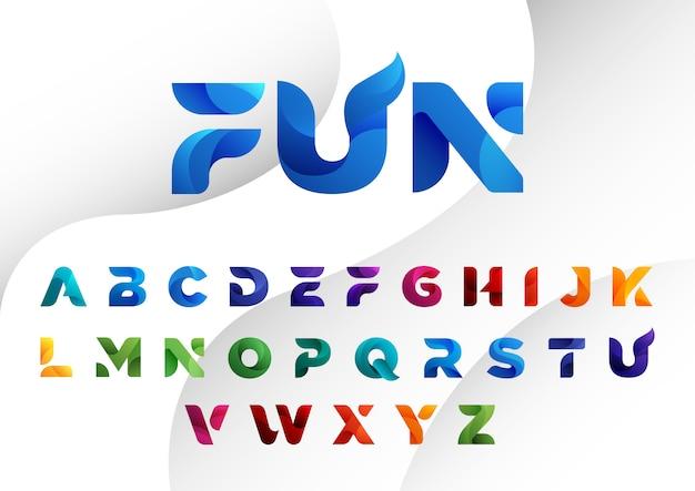 Alphabets abstraits modernes colorés décorés