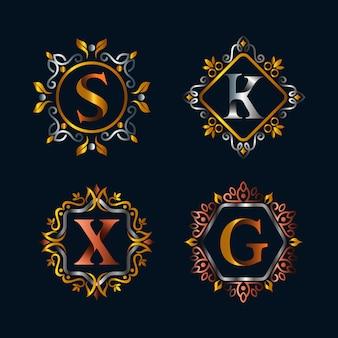 Alphabets en création de logo emblème style vintage