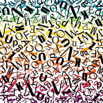 Alphabets en jacquard sans couture