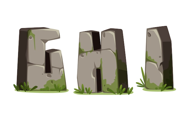 Alphabets en pierre