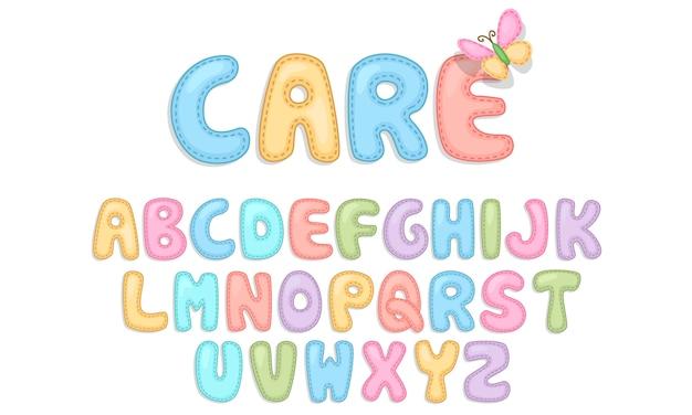 Alphabets soins bébé