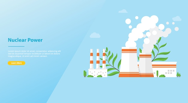 Alternative technologique aux ressources technologiques des centrales nucléaires pour le modèle de site web ou la page d'accueil de destination