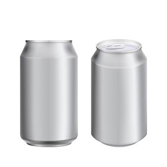Aluminium peut boire soad ou template de bière