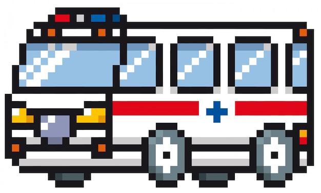 Ambulance en dessin animé
