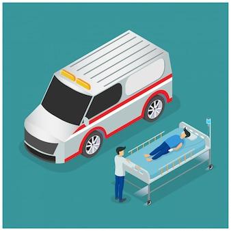 Ambulance isométrique