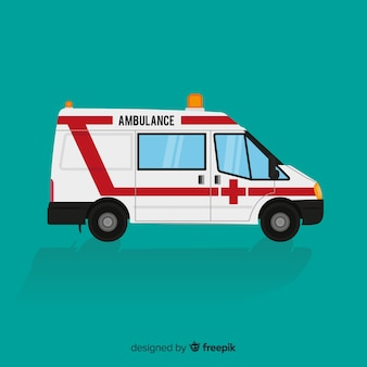 Ambulance à plat