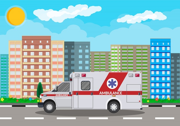 Ambulance voiture transport d'urgence véhicule hospitalier