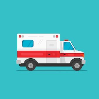 Ambulance voiture d'urgence ou véhicule médical