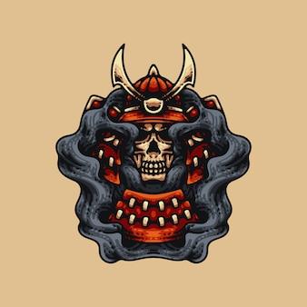 Âme de crâne de samouraï
