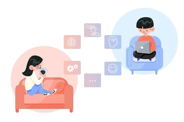 Améliorer avec un thérapeute en ligne