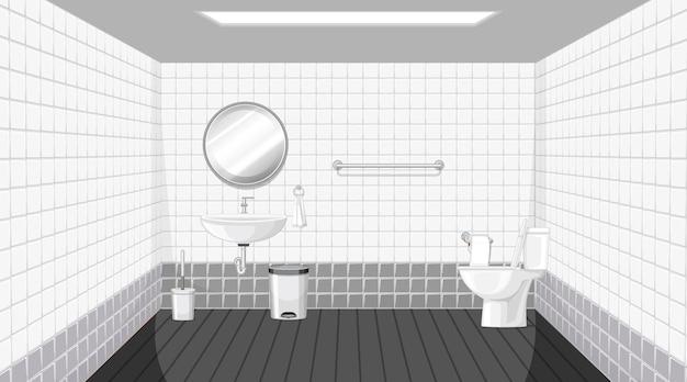 Aménagement intérieur des toilettes avec mobilier