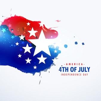 Américain 4ème de vacances de juillet fond