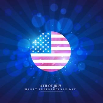 Américain icône de drapeau en arrière-plan bleu