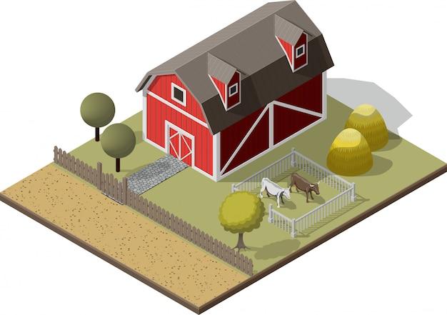 Américaine traditionnelle ancienne grange
