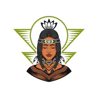 Amérindienne belle fille
