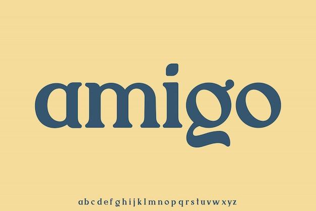 Amigo, police élégante et de luxe, ensemble de types d'alphabet royal de luxe