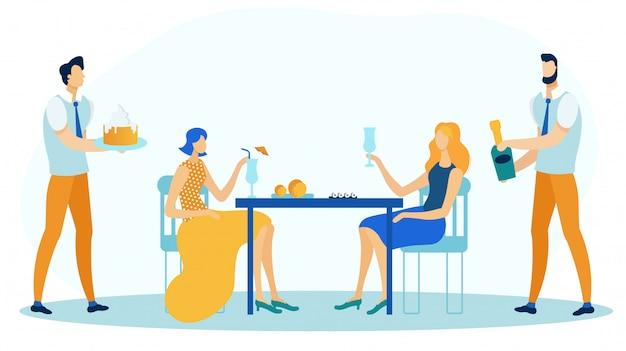 Amis, anniversaire, couple, rencontre, plat