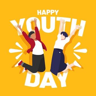 Amis célébrant la journée de la jeunesse