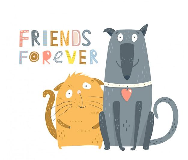 Amis chats et chiens