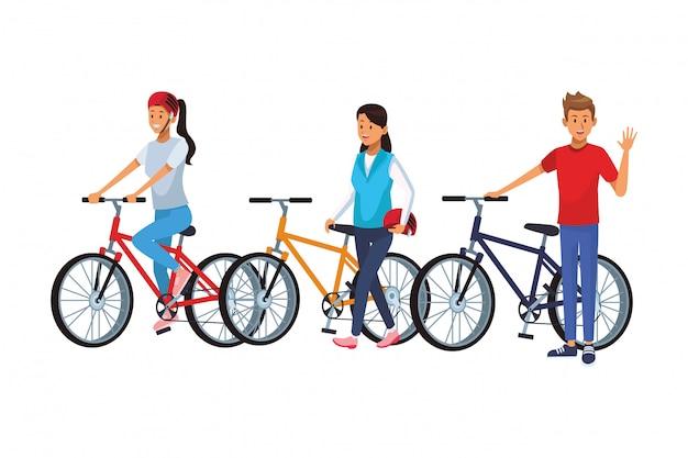 Amis faire du vélo