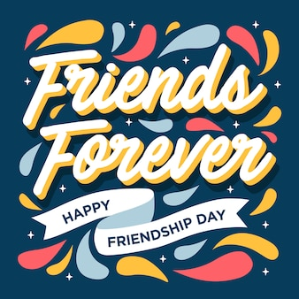 Amis pour toujours bonne carte de voeux de jour d'amitié