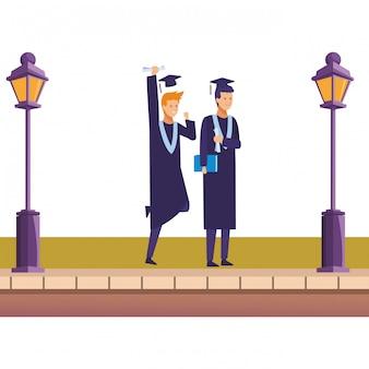 Amis de remise des diplômes