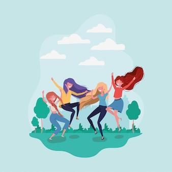 Amitié des dessins animés de filles
