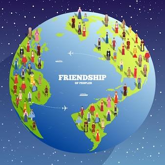 L'amitié des gens. journée internationale des peuples autochtones du monde.