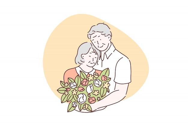 Amour, amitié, ensemble, concept de la saint-valentin