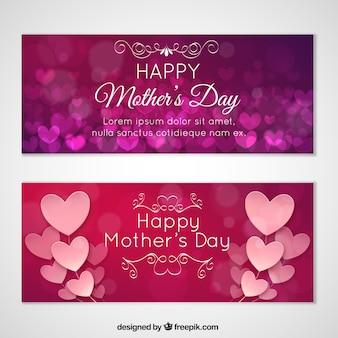 Amour bannières, jour de mères