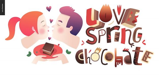 Amour chocolat au printemps
