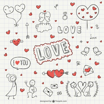 Amour collection gribouillis